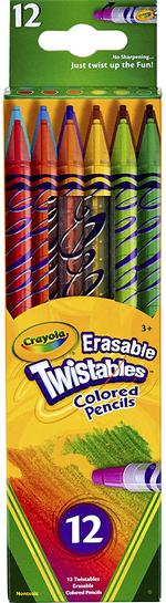 Crayola 12pcs Erasable Twistable Pencils