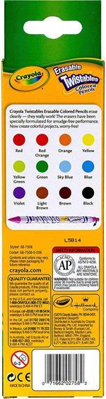 Crayola 12pcs Erasable Twistable Pencils