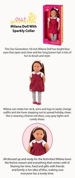 Our Generation Milana Doll with Sparkly Collar