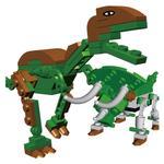 Best Lock 121pcs T-Rex & Triceratops Ziploc Pack-Green