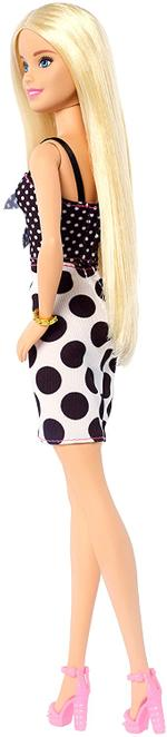 Barbie Fashionistas Doll with Long Blonde Hair Wearing Polka Dot Dress and Accessories