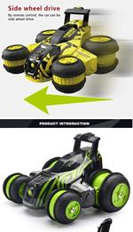 Fancy Stunt Remote Controlled Turbine Storm Vehicle-Green