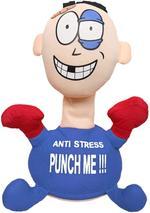 Battery Punch Me Doll  Anti-Stress Stuffed Figure-Blue
