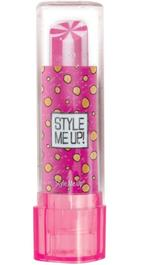 Style Me Up! Lipstick Shaped Eraser Pink