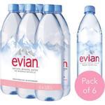 Evian Prestige Natural Mineral Water, 6 Bottles X 1.25 Lt