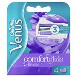 Gillette Venus Breeze women's razor blade refills, 4 ct