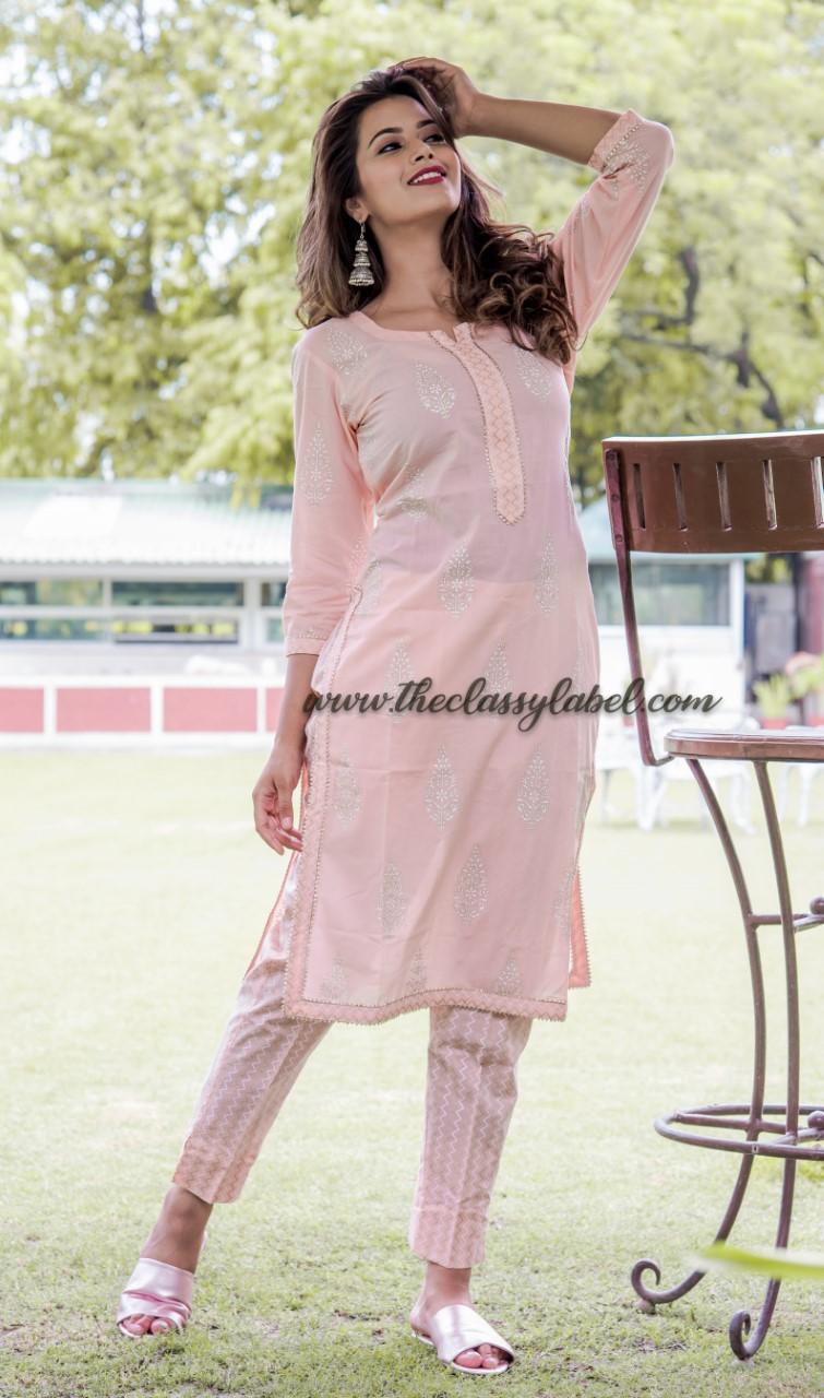 Pink  Bijiya  Suit  Set