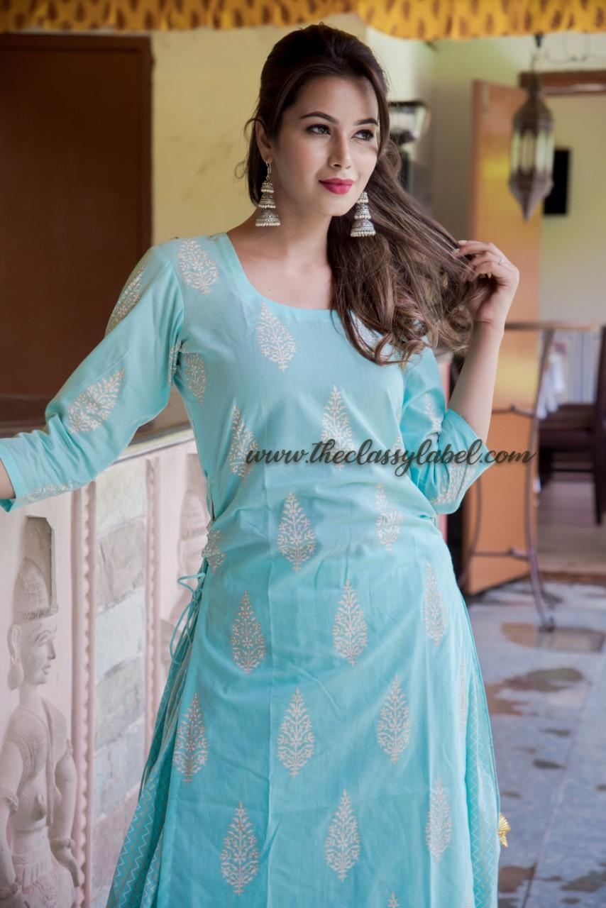 Blue Bijiya Suit Set