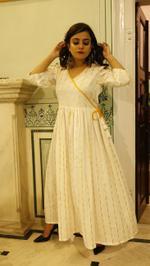 Front Tie Angrakha Maxi Dress