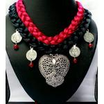 Hand Made Necklace with Oxidised Pendant