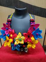 Handmade Multicoloured Floral Design Necklace