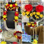 Handmade Rose & Pearl Floral Design Wedding Jewellery Set