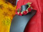 Red Flower Tiara For Woman