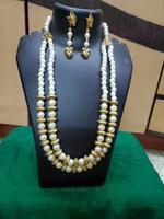 Handmade Puti Beads Design Necklace & Earring