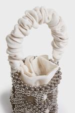 Silver Embellished Bucket Bag