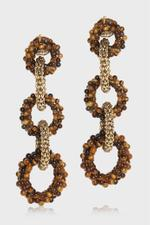 Carrarmato Gold Tiger Eye Earrings
