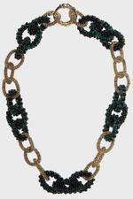 Carrarmato Green Bead Necklace
