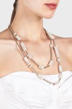 Carrarmato Pearl-Brass Necklace