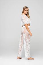 Long Lace Pyjama Set  - Ivory