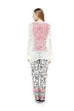 Floral Printed 3-Piece Cotton Pajama Set