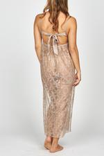 Iris Lace Long Nightdress - Beige