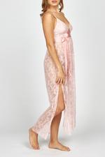 Iris Lace Long Nightdress - Pink