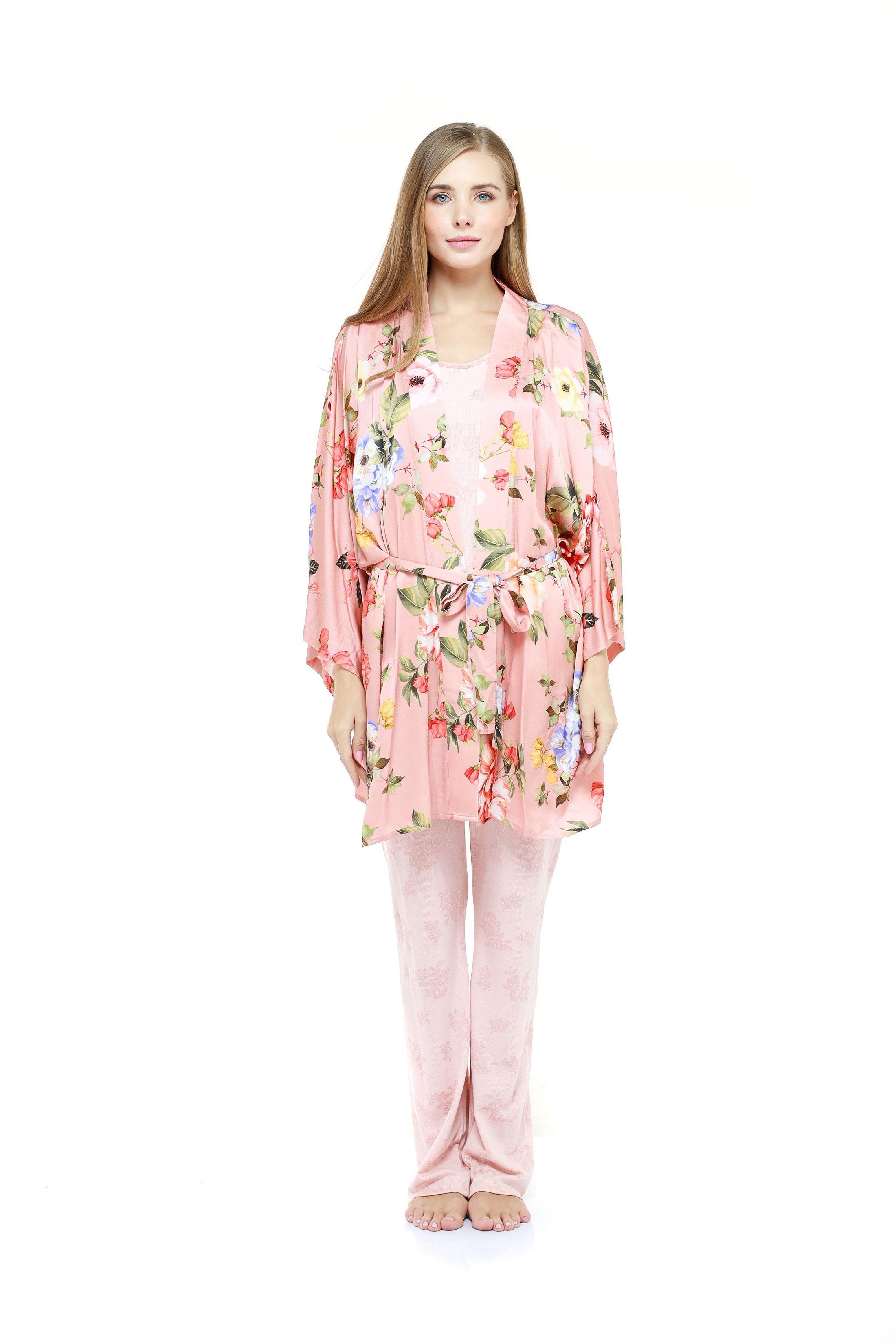 Floral Pyjama Set - Peach
