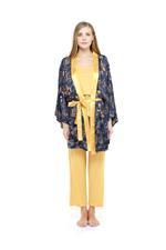 Printed Pyjama Set - Mustard