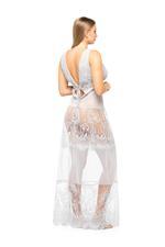 Lace Long Nightdress - Silver