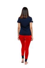 Cotton Pyjama Set - Navy/Red