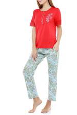 Floral Cotton Long Pyjama Set