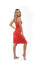 Printed Nightdress & Robe Set - Red/print