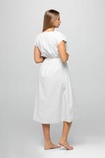 Short Cotton & Lace  Jalabiya - Beige