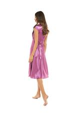 Satin & Lace Long Nightdress - Dark Rose Pink