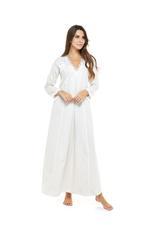 Jaquard Cotton Long Jalabiya - Beige
