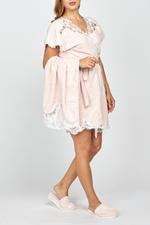 Adrianna Embroidered 3-Piece Bath Set  - Rose Pink