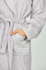Terme Couples Bath 6-Piece Bath Set  - White/Lilac
