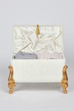 Adrianna Couples Bath Set in Velvet box - Gray/Pink
