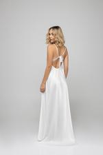 Anemonie Lace and pearl Long Nightdress & Robe Set - White