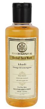 Khadi Natural Orange & Lemongrass Face Wash - 210 ml