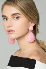 OwnTheLooks Pink Teardrop Drop Earrings (676B)