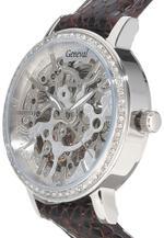 Geneval Brown Leather  Automatic  Analog Watch - GLAS1712WWO