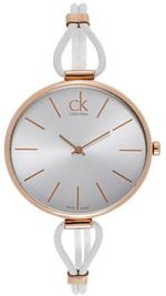 Calvin Klein Selection White Leather Analog  Watch - K3V236L6