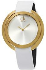 Calvin Klein Aggregate White Leather Analog Watch - K3U235L6
