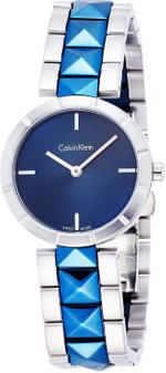Calvin Klein Edge Two Tone Blue Silver Analog Watch - K5T33T4N