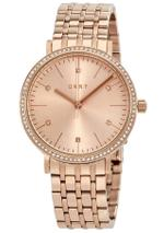 Dkny  Minetta Rose Gold Stainless Steel Analog Watch -NY2608