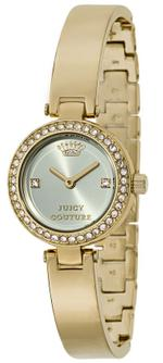 Juicy Couture Luxe Gold Tone Bangle Bracelet Brass Analog Watch - 1901225