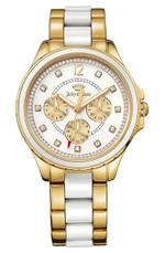 Juicy Couture Gwen Two Tone Gold White Analog Watch - 1901302