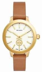 Tory Burch Collins Brown Leather Strap Analog Watch - TB1202