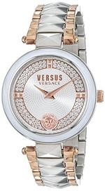 Versus Convent Garden Crystal Two Tone Silver Rose Gold Analog Watch - V WVSPCD2517